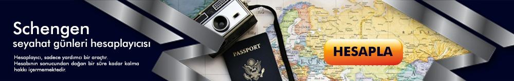 Schengen Vizesi Seyahat Günleri Hesaplayıcı